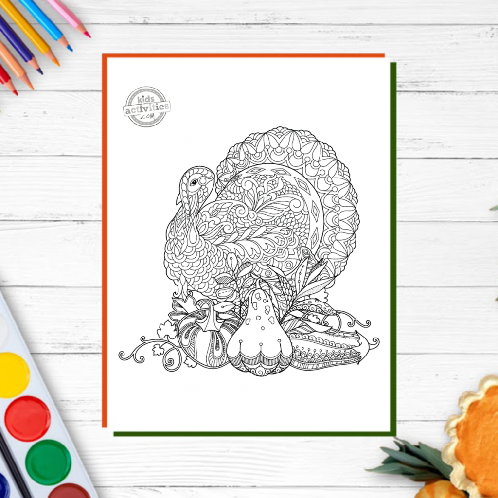 zentangle thanksgiving coloring pages