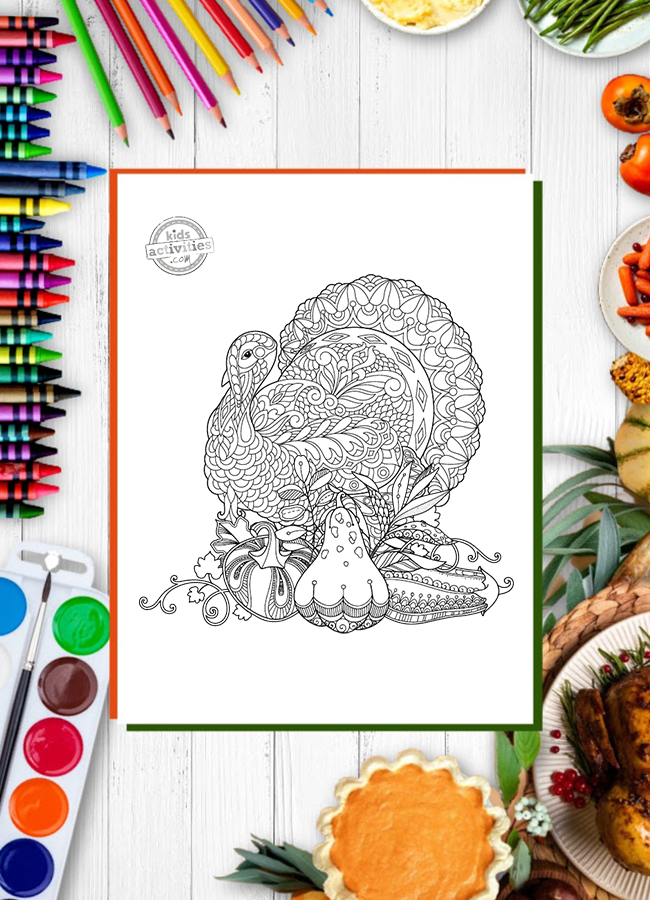 75+ Thanksgiving Crafts and Activities: free printable thanksgiving coloring pages