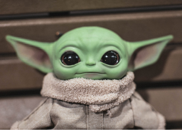 aby Yoda fun and games, crafts and activities from Kids Activities Blog  - Baby Yoda toy close up