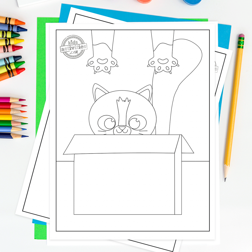 Download The Best Cute Cat Coloring Pages For Kids