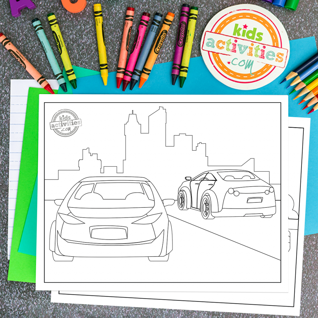 car coloring sheet