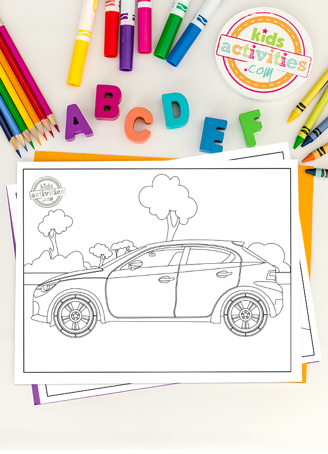 The Best Cool Cars Coloring Pages For Kids - Free Printable