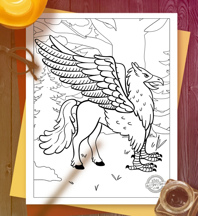 magical beasts coloring pages