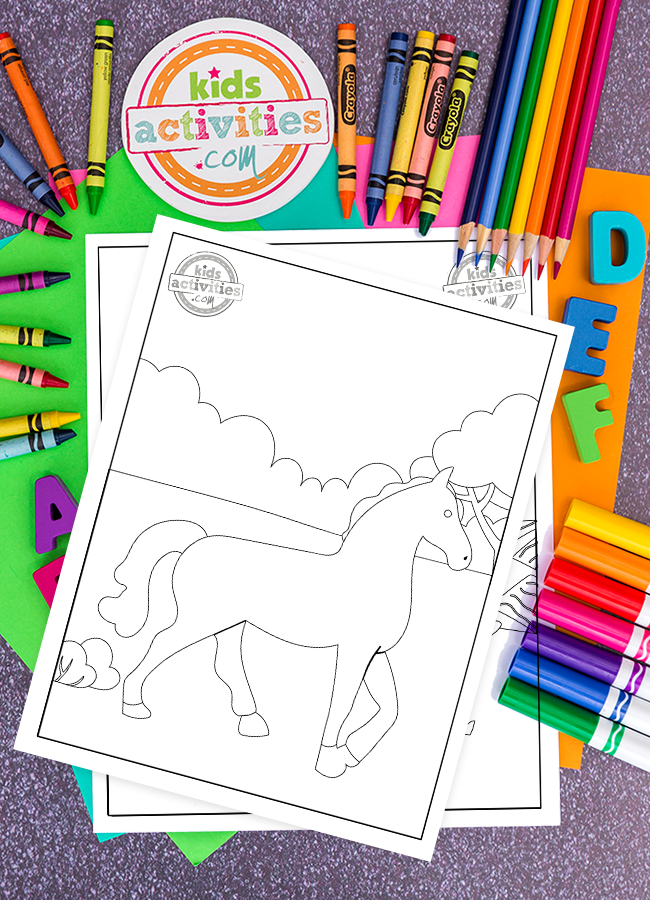 Here's How To Download Free Printable Horse Coloring Pages For Kids
