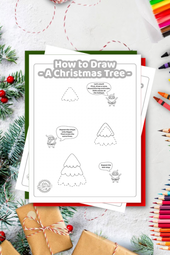 How To Draw A Christmas Tree coloring page