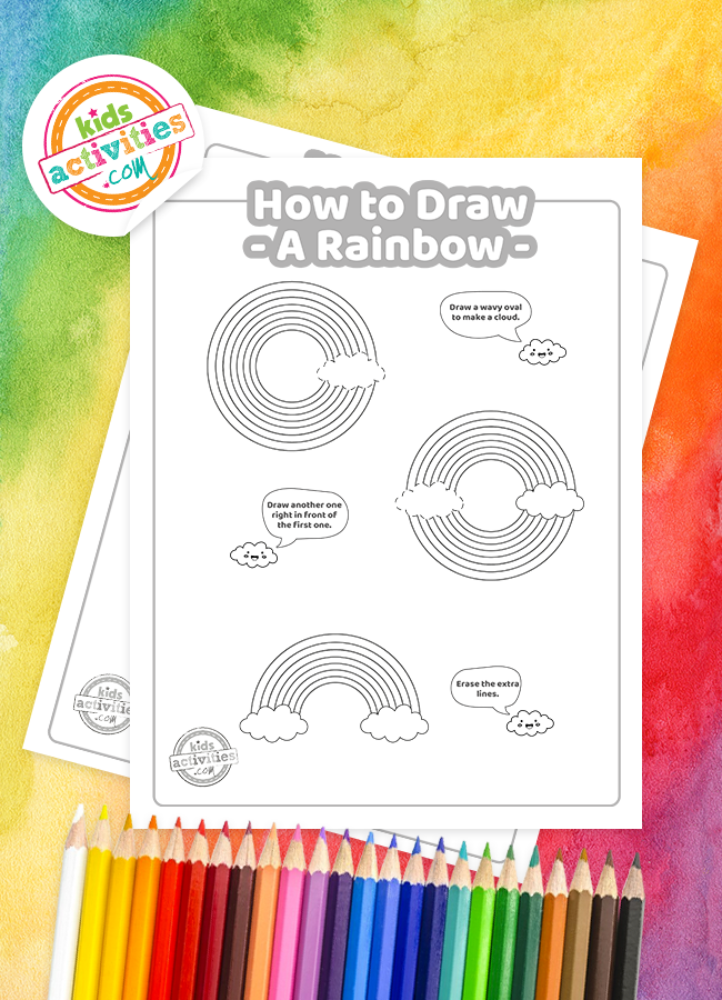 Learn How To Draw a Rainbow