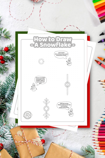 How To Draw a snowflake coloring page