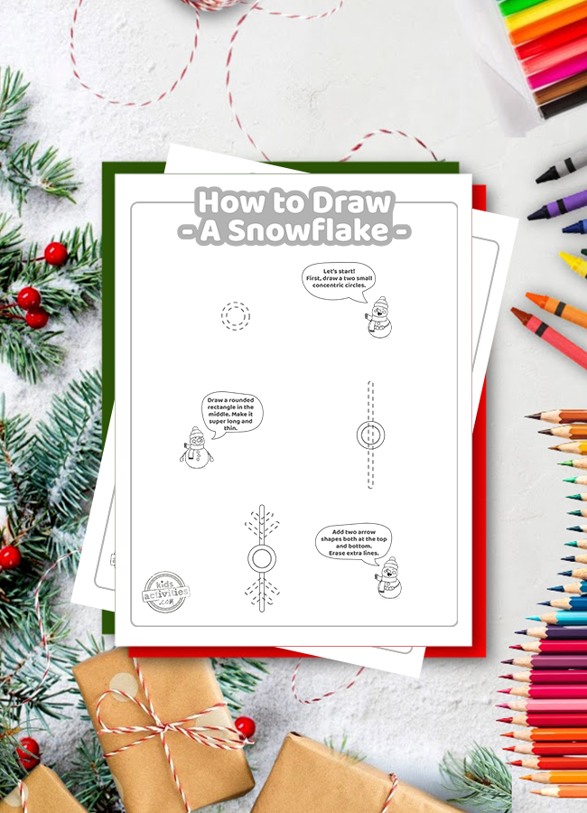 Easy How to Draw a Snowflake Step by Step