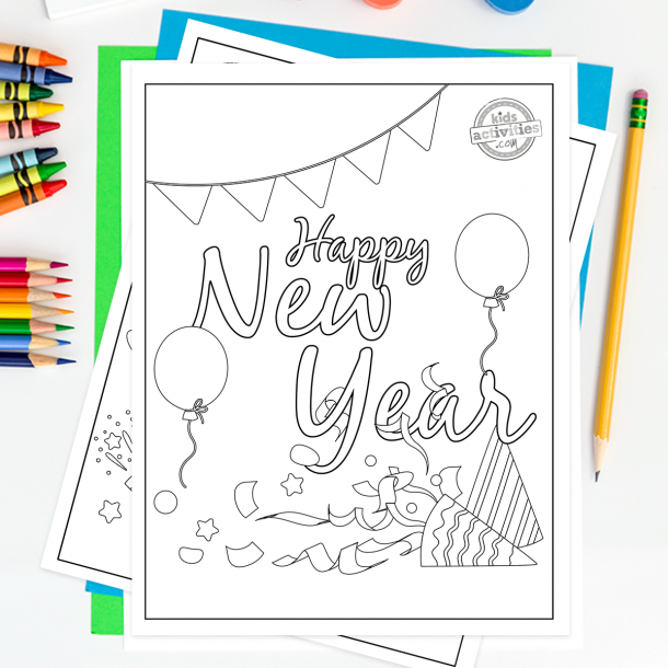 21 Awesome Free New Year S Printables For Kids Kids Activities Blog