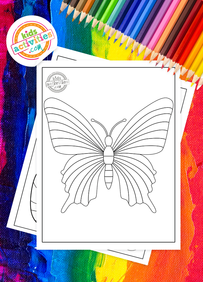 Free Rainbow Butterfly To Color