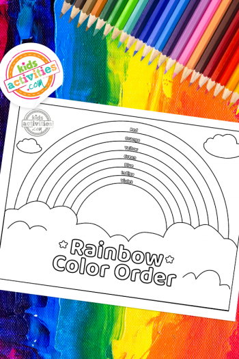 Rainbow Color Order Coloring Page