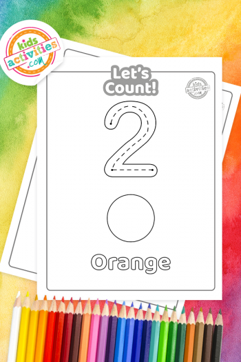 Rainbow Counting Coloring Pages