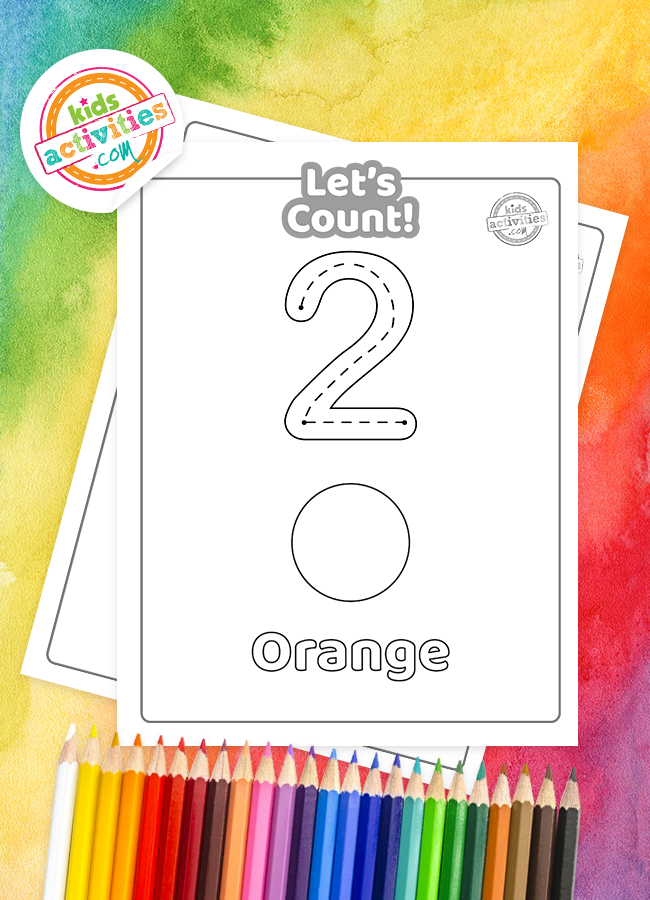 Learn colors and numbers with this rainbow counting printable after playing your color sorting game.