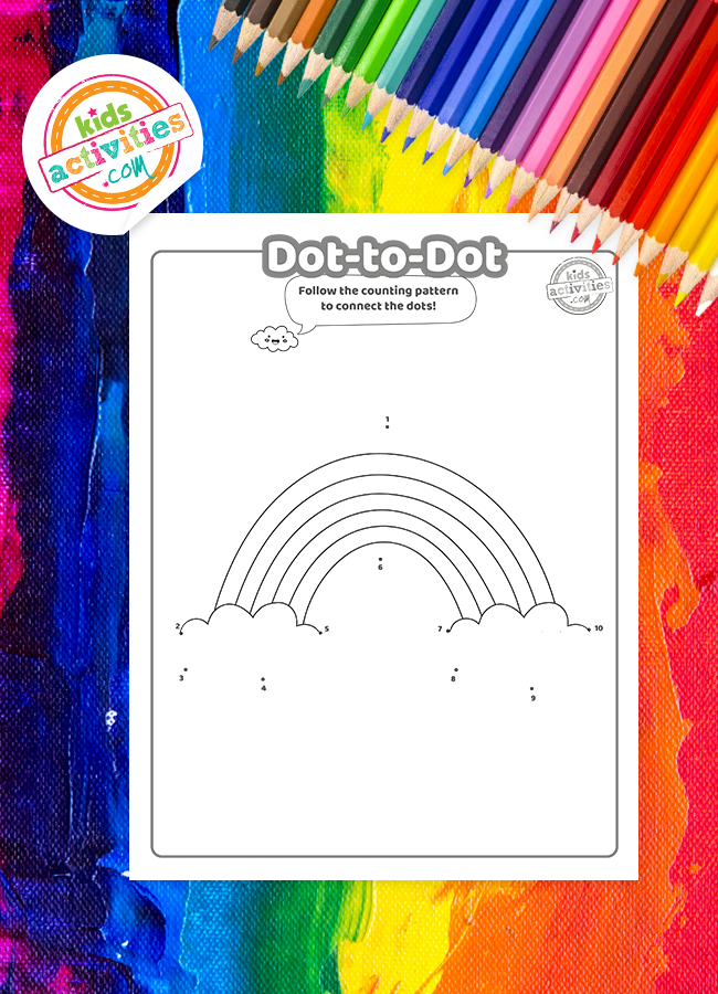 rainbow dot to dot
