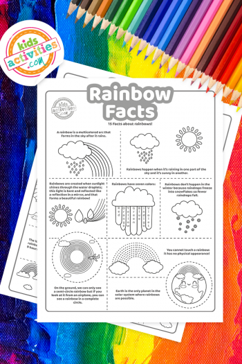 Rainbow Facts Coloring Page