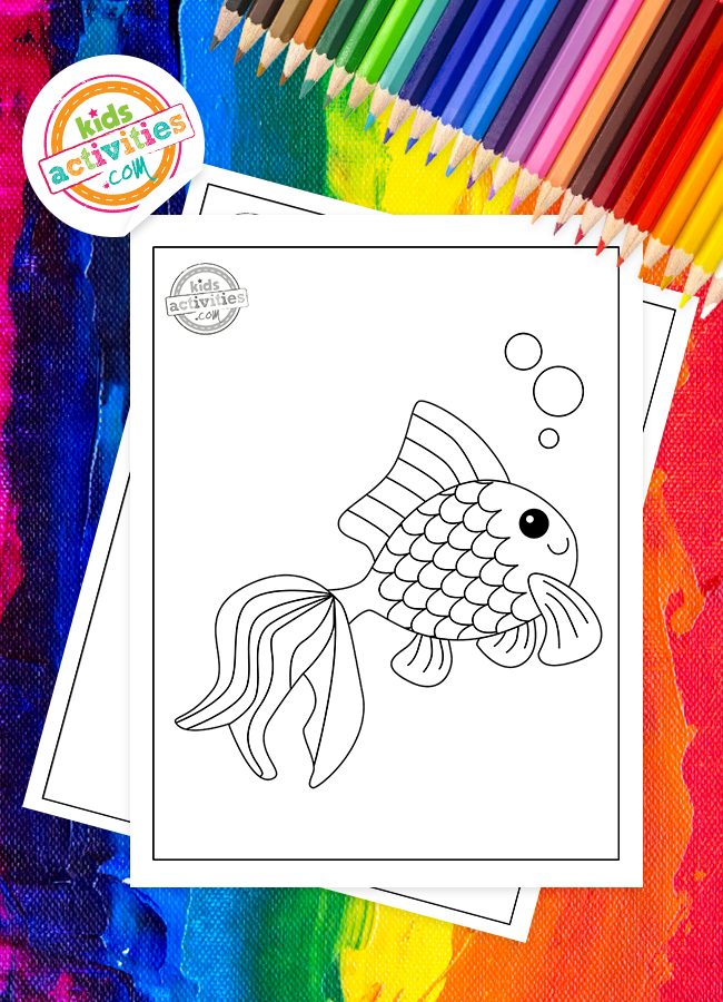 free printable rainbow fish coloring pages