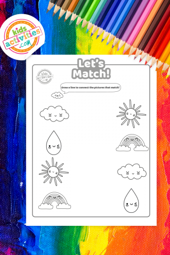 Rainbow Matching Coloring Pages Vertical 1