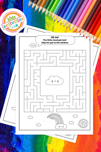 Rainbow Maze Coloring Page