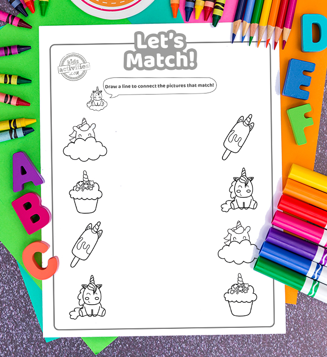 Fun Unicorn Matching Game To Play At Home