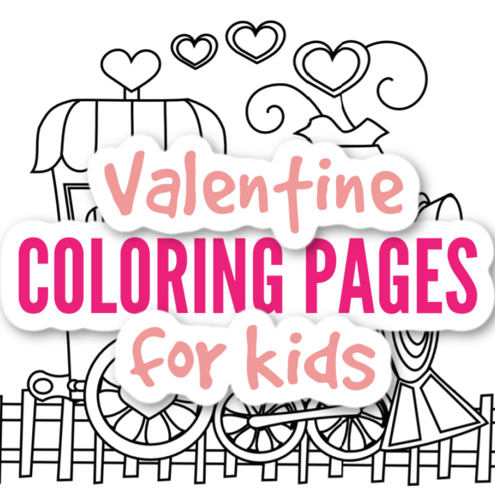 Valentines Day Coloring Pages for kids - Kids Activities Blog - train coloring page with heart smoke
