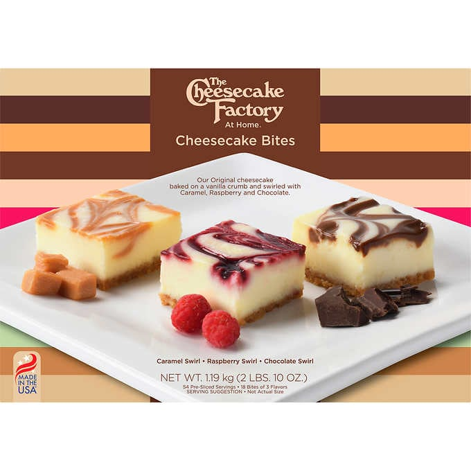 Costco Is Selling A Giant Box of Cheesecake Factory Cheesecake Bites and I'm On My Way Now