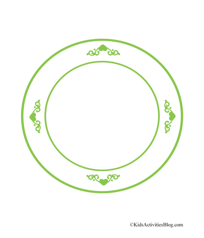printable cookie plate pdf with green trim great for paper Christmas cookies