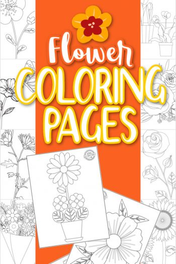 flower coloring pages from Kids Activities Blog - multiple flower coloring pages to download and print shown