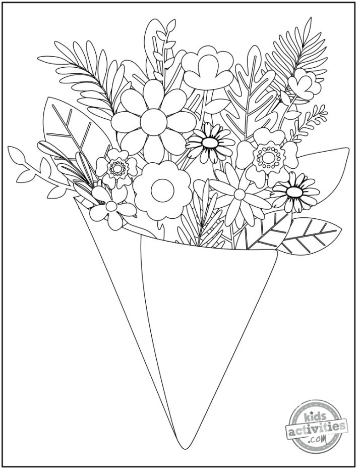 14 Original Pretty Flower Coloring Pages To Print Kids Activities Blog