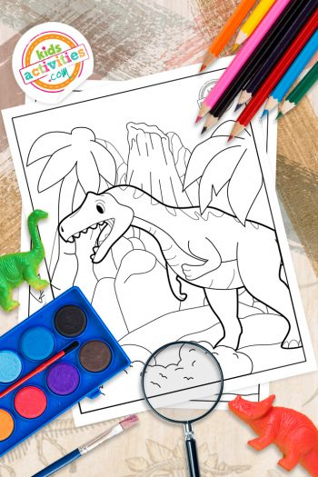 Allosaurus coloring pages