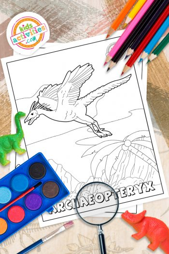 Archaeopteryx Coloring Pages