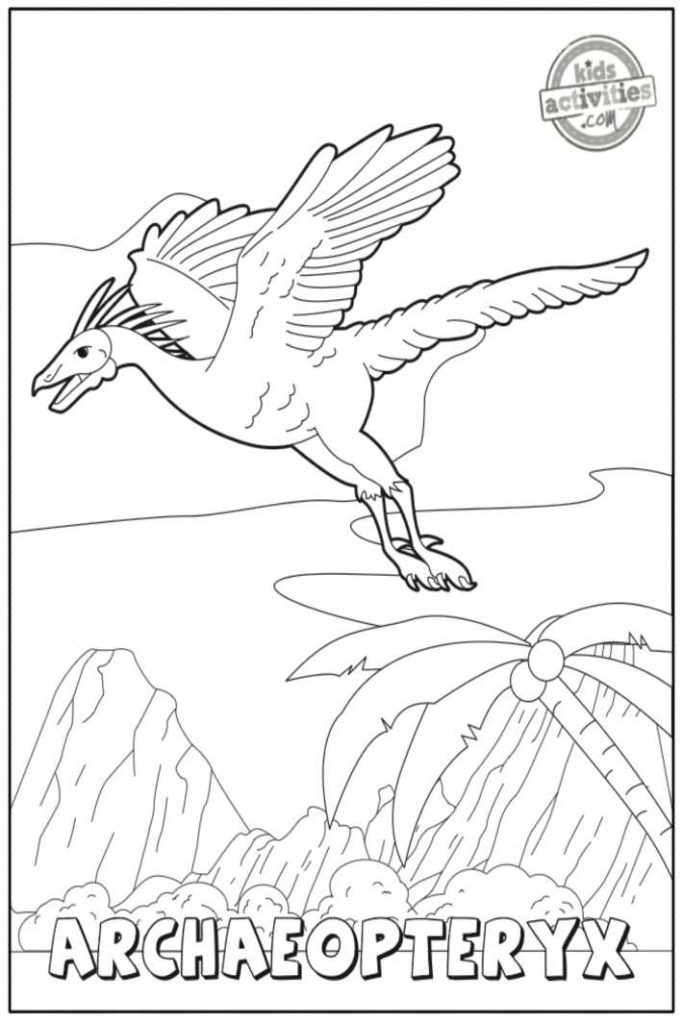 Archeopteryx Coloring Pages 2