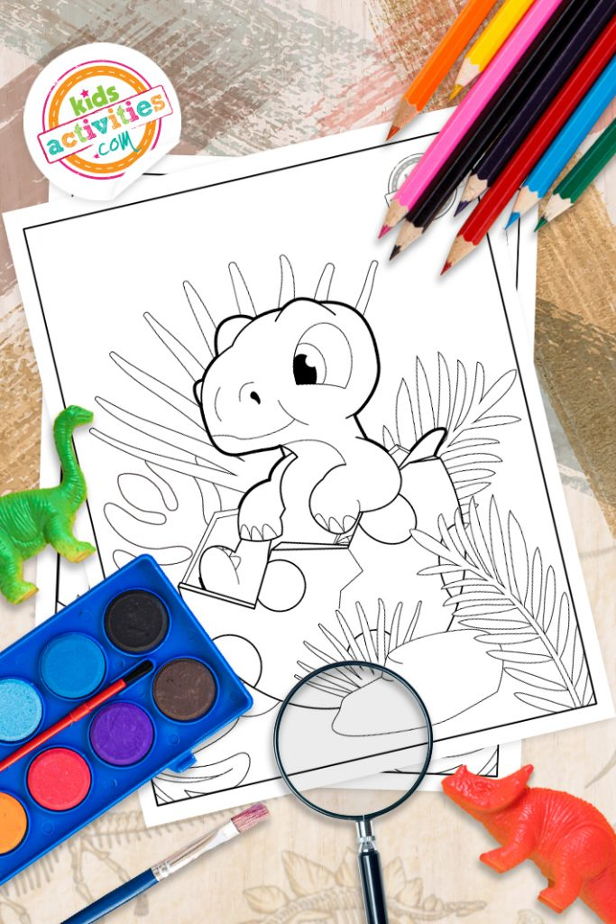 baby dinosaur printable coloring pages