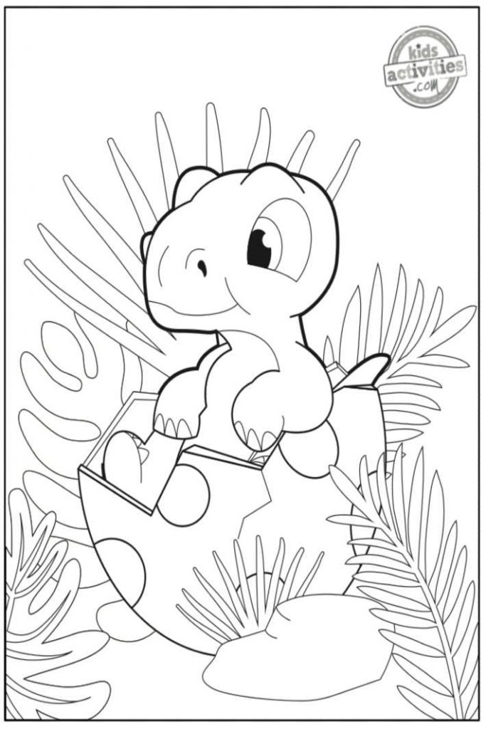 Baby Dinosaur Coloring Pages Adorable Printable