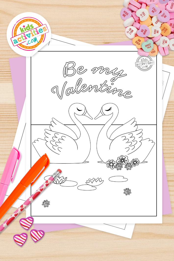 Be my Valentine Coloring Pages