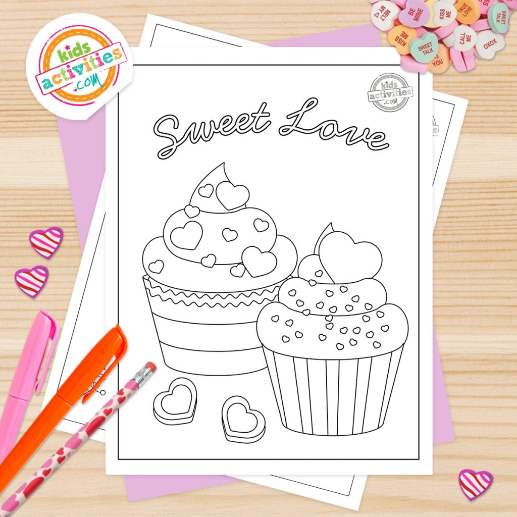 Cute Valentines Coloring Pages