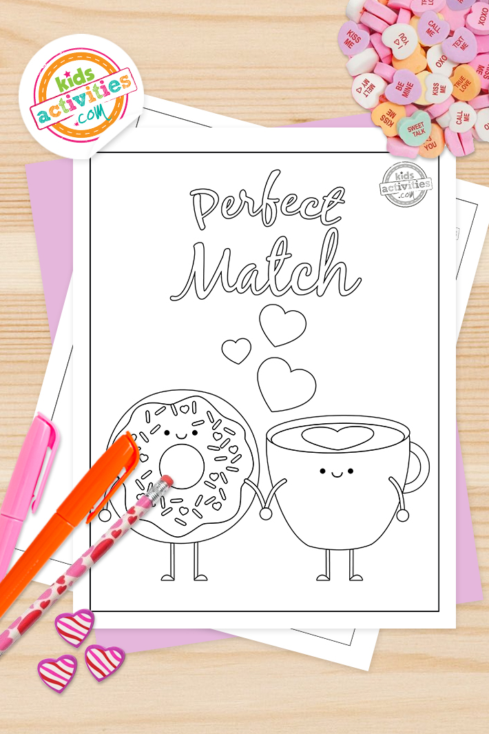 Cute Valentine Coloring Pages For Kids