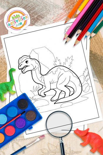 Dilophosaurus Coloring Pages