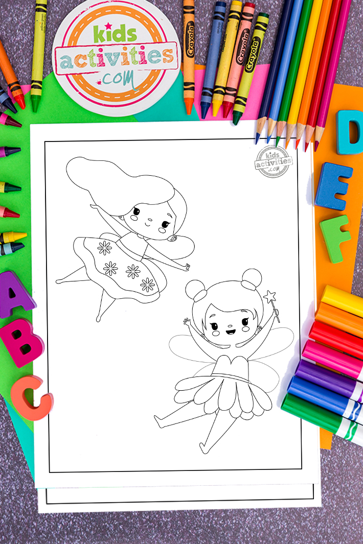 Magical Fairy Coloring Pages