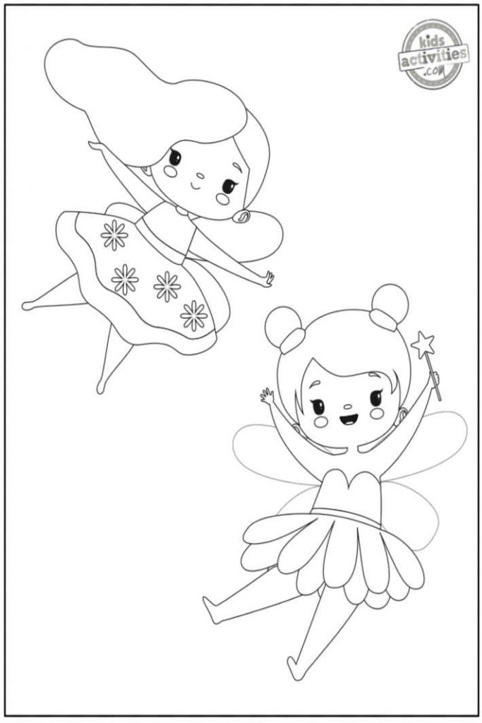 fairy girl coloring pages