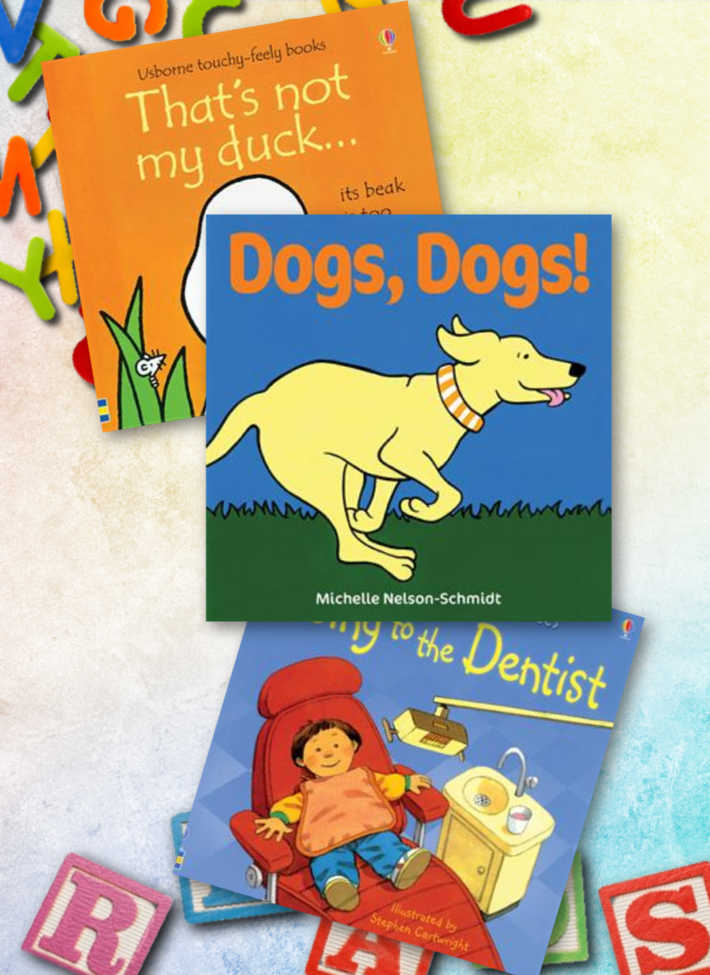 Easy books for kids, to help them learn the letter D.
