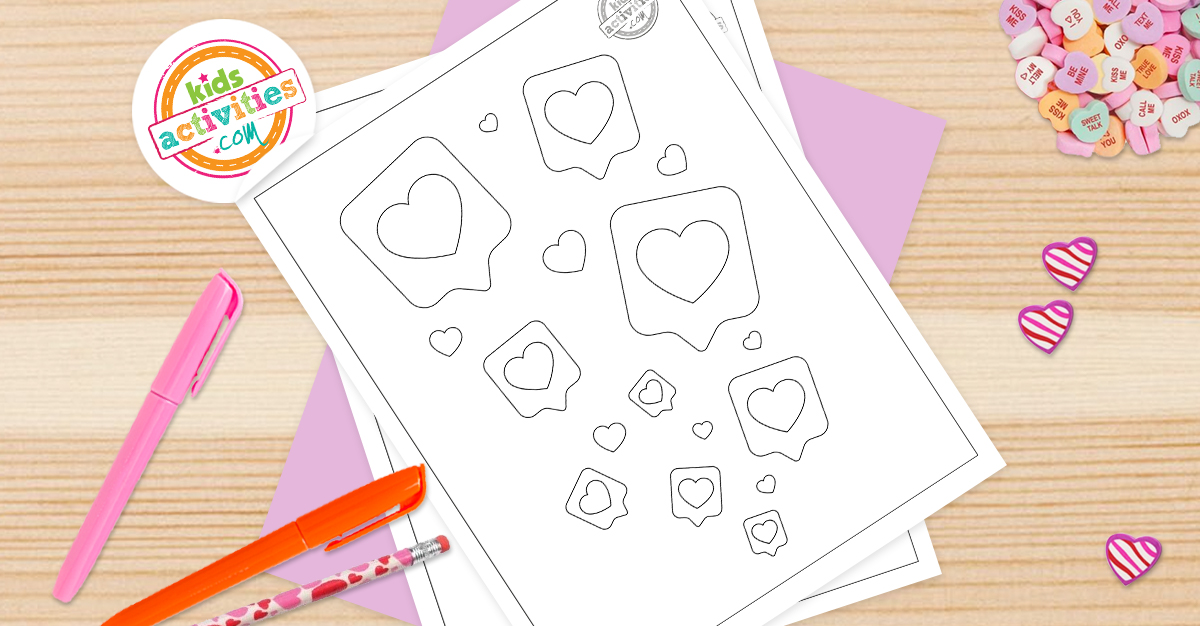 Free Printable Heart Coloring Pages For Kids Very Adorable