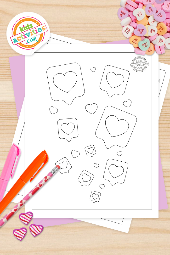 Free Heart Coloring Pages For Kids