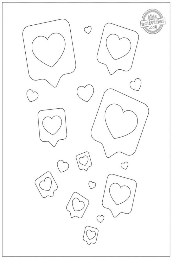 Free Printable Heart Coloring Pages For Kids {Very Adorable}