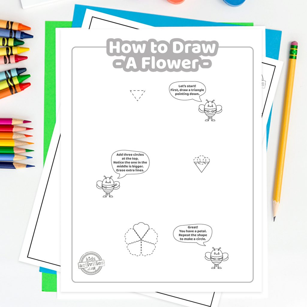 how to draw a pretty flower
