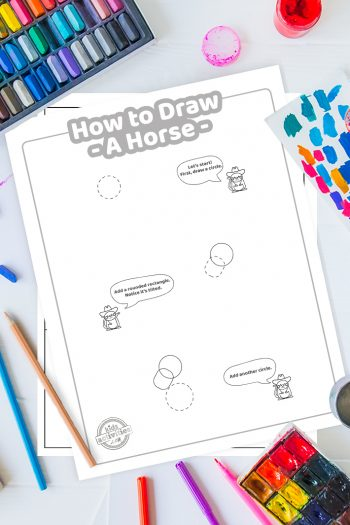 How To Draw a horse coloring page