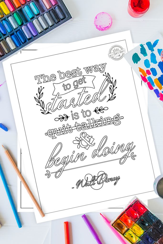 Best Inspirational Quote Coloring Pages For Adults