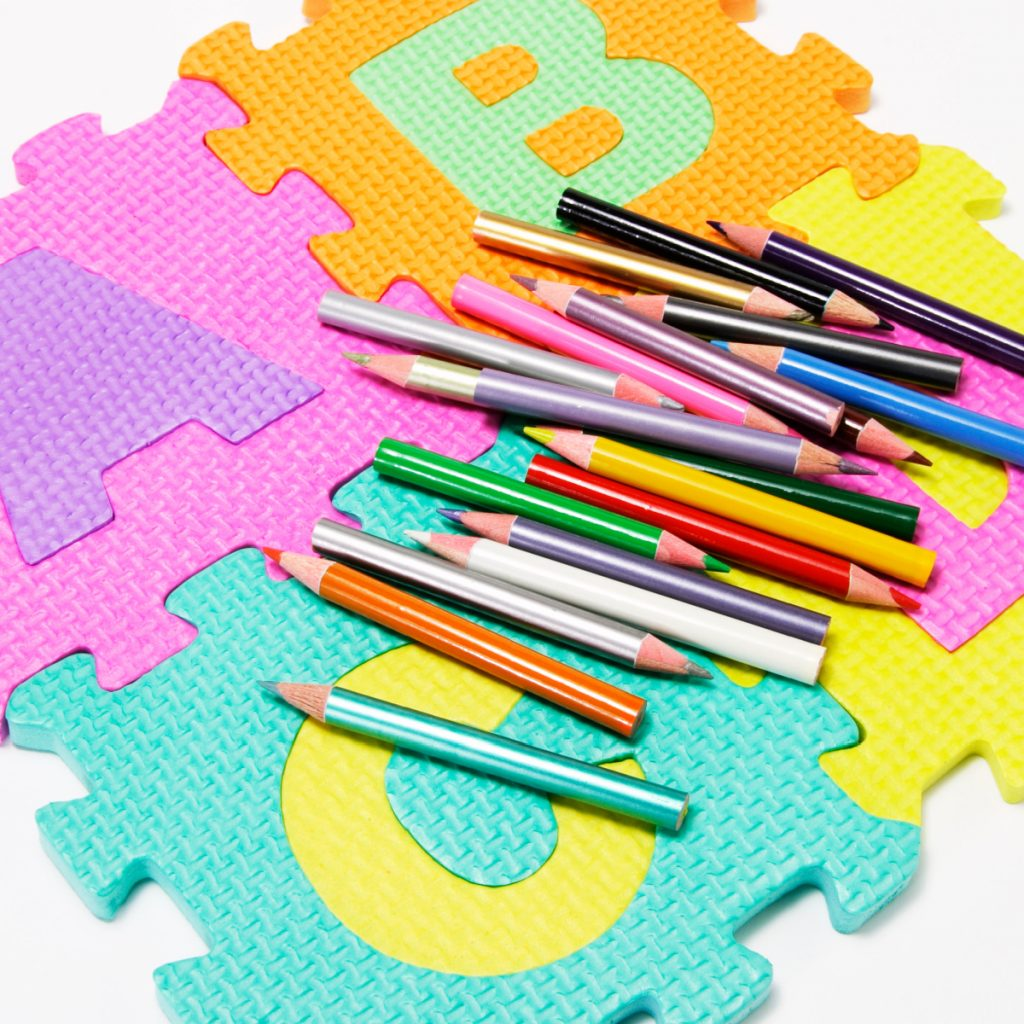 Letter coloring pages alphabet coloring activities from Kids Activities Blog - A, B, C, D letters with colored pencils