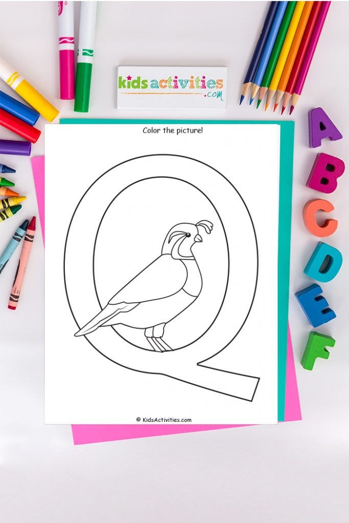 Letter Q Coloring Page - Download, Print & Learn! Kids Activities Blog