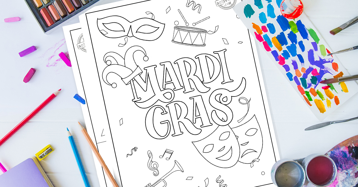Festive Mardi Gras Coloring Pages