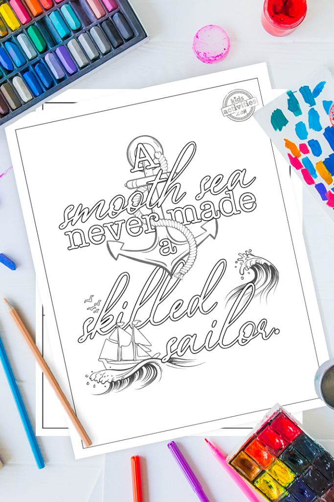 quote motivation coloring pages